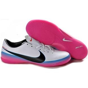 http://www.asneakers4u.com Nike Mercurial Victory III IC Indoor Football Trainers Soccer Cleats White Blue Pink