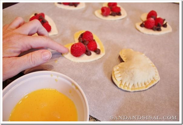 Last minute Valentine's Day Treats! Chocolate Raspberry Croissants.