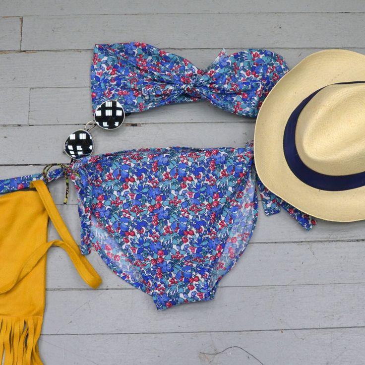 Coudre un maillot de bain tendance en coton imprimé