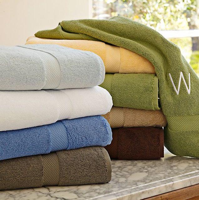 William Sonoma Wedding Gifts: Williams Sonoma Monogramed Towels