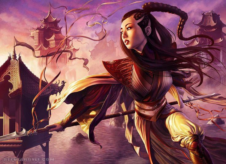 Asian fantasy art - Legend of 5 Rings - SteveArgyle Monastery Swiftspear - Wind and Steel by SteveArgyle on DeviantArt