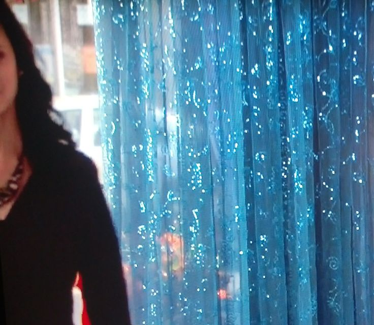 Sheer Sparkly Curtain Instead Of Door Beads Home