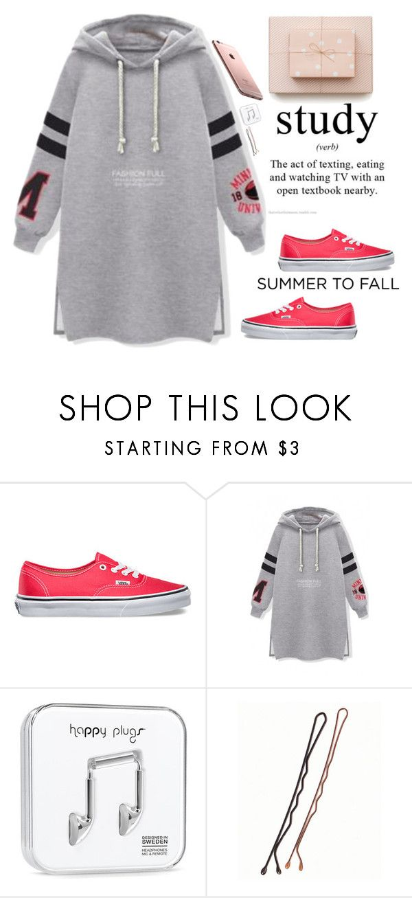 """Dgann&Harru"" by dganna ❤ liked on Polyvore featuring Vans and Happy Plugs"