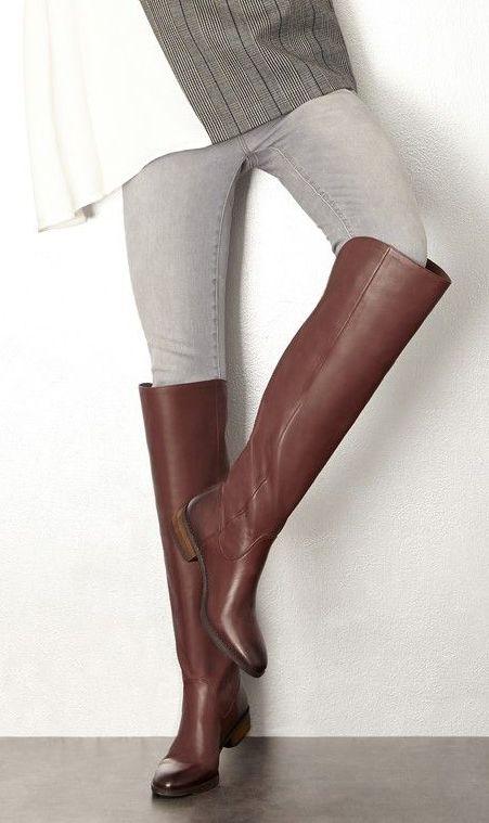 Luxurious leather over-the-knee riding boots....reépinglé par Maurie Daboux…