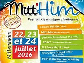 Festival de musique chrétienne du 22 au 24 juillet à Mittersheim (57) - Christophe Apffel / Actualité Musicale - Top Music - Top Chrétien