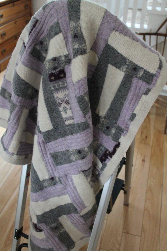 Lovely Wool Felt Wheelchair Size Blanket by Linesinpleasantplace
