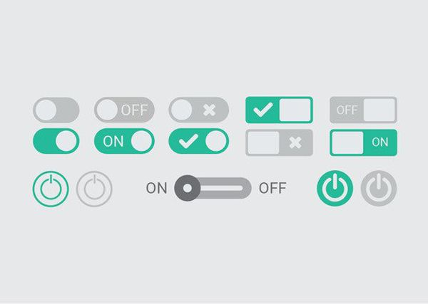 On Off Button Vectors Vector Graphic