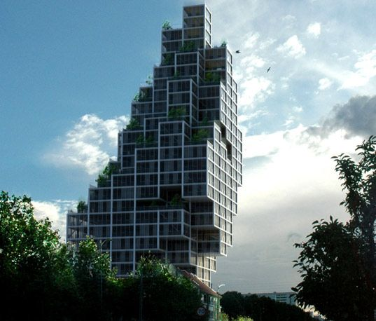 MVRDV and ADEPT Architects are the masterminds behind this incredible Sky Village high rise.