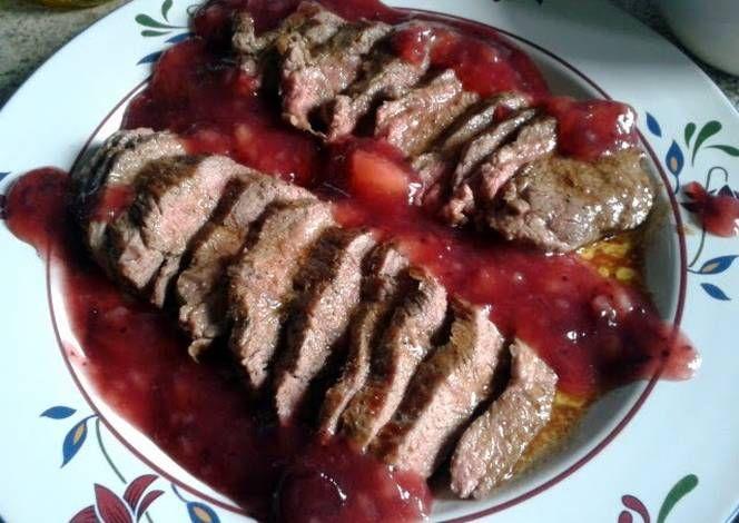 Venison Steaks & Fruit Sauce Recipe -  Let's cook Venison Steaks & Fruit Sauce by yourself!