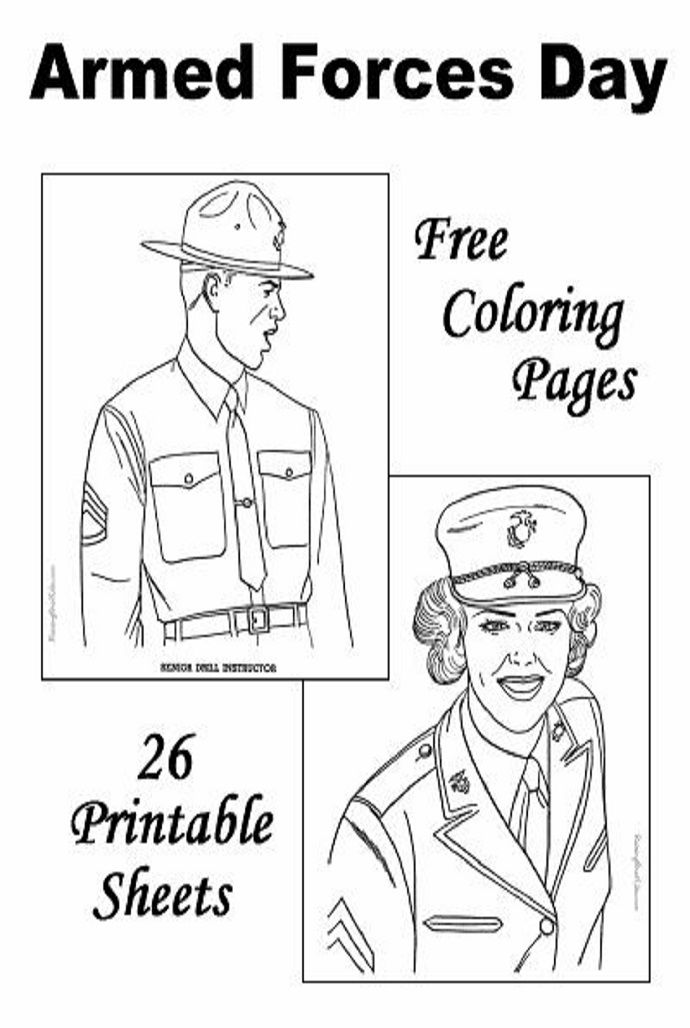 print out military coloring pages to assemble armed forces coloring books to give to the grandkids - Patriotic Military Coloring Pages