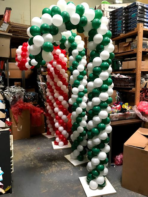 1383 best balloons for christmas images on pinterest for Candy cane balloon sculpture