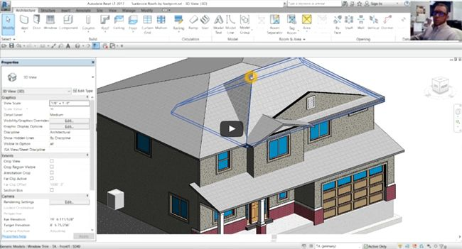 There are different methods in Revit for creating roofs. The easiest one is the footprint roof. A footprint roof is ideal for generating floors.