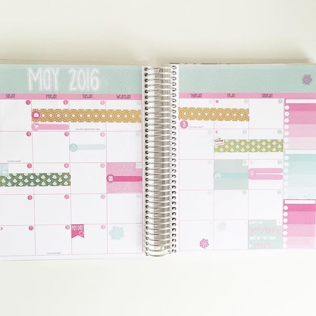 Day 30 of the @elliebethdesignsuk April Photo Challenge - Next Month ✨ Next month is May (my birthday month, YAY!) and the colors of the vertical @erincondren are my absolute favorite!! This monthly kit from @elliebethdesignsuk is just so pretty, don't you think?  #EllieBethAPC