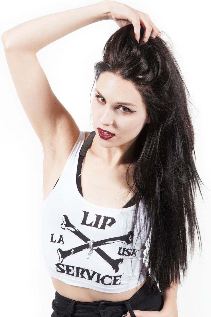 LIP SERVICE Cross Bones LA Bra Top #LS-120