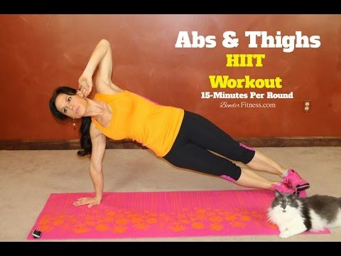 15-Minute HIIT: Abs & Thighs Workout-No Equipment-Body Weight Workout | Bender Fitness
