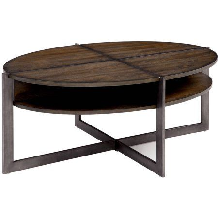 Furniture of America Denise Transitional Coffee Table, Dark Oak