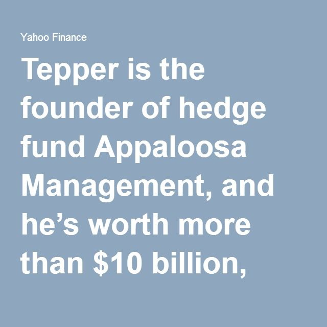 Tepper is the founder of hedge fund Appaloosa Management, and he's worth more than $10 billion, according to Forbes. He ran his firm out of New Jersey for years, but recently moved the operation to Miami Beach. The top income tax rate in New Jersey is nearly 9%. In Florida, the top rate is 0. Tepper will save so much money that New Jersey finance officials worry that the tax revenue lost to his move could blow a hole in the state budget.