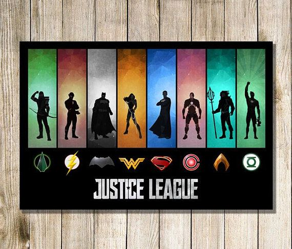 "Justice League Posters HD Canvas Print 24/""x36/"" Home Decor Room Wall Art Painting"