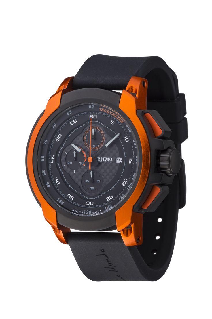 Quantum I Orange 50mm Sport Swiss Chronograph