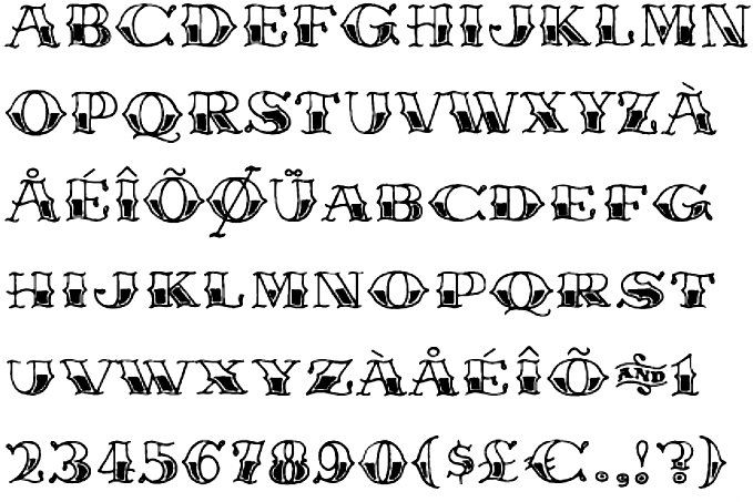 tattoo sailor font by Starvampire