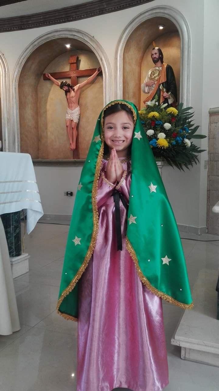 Vestuario De Virgen De Guadalupe Niña Disfraces Originales