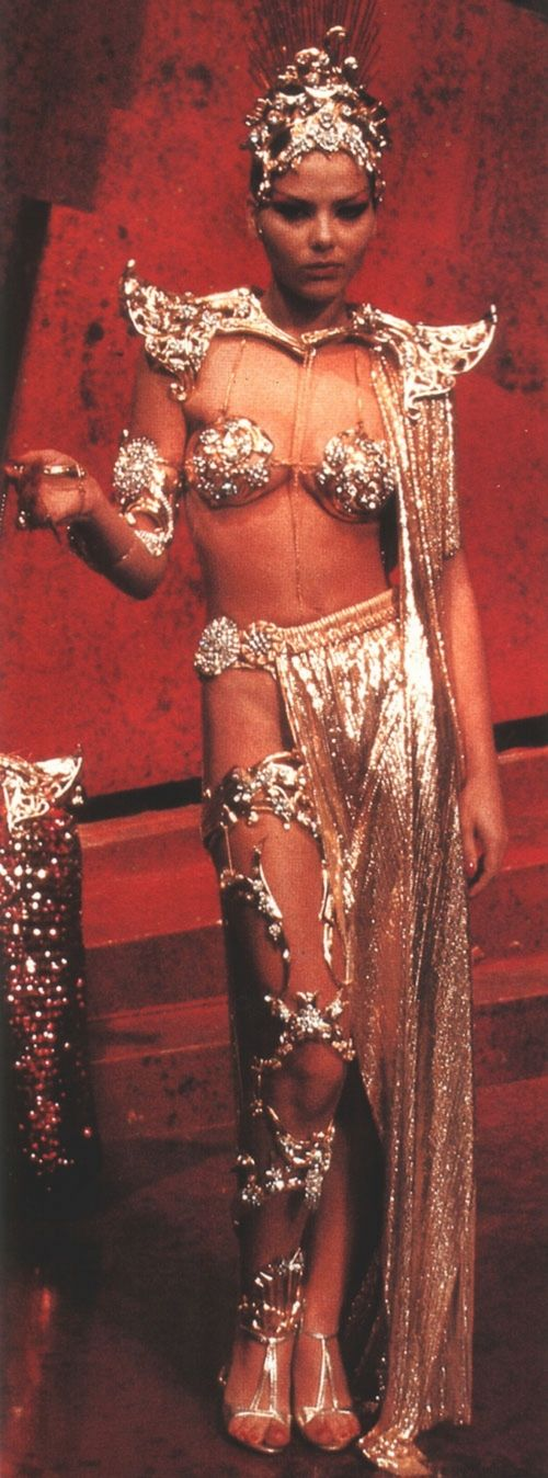 "Ornella Muti in ""Flash Gordon"" Designer: Danilo Donati - Aura had amazingly gorgeous costumes in that movie"