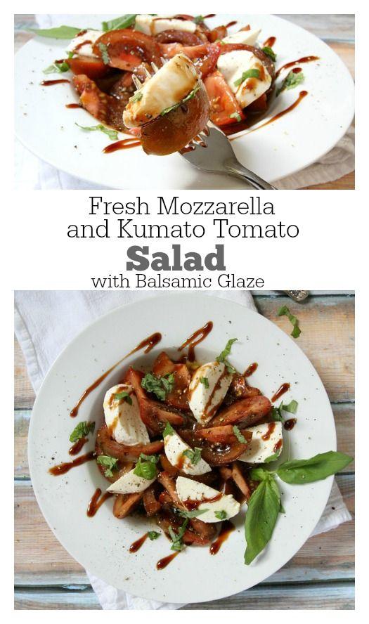 and Kumato Tomato Salad with Balsamic Dressing and Balsamic Glaze ...