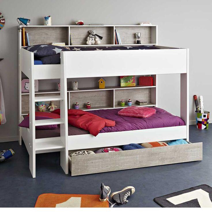 Kinderetagenbett Stauraum Weiß Runes -html