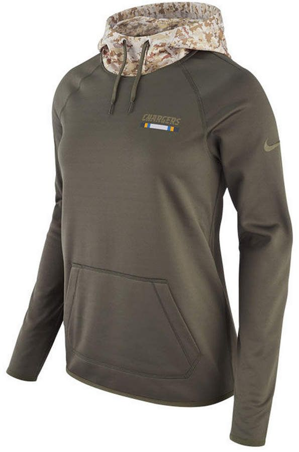 outlet store aab19 d93e1 Nike Women's San Diego Chargers Salute To Service Hoodie ...