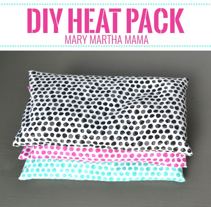 DIY hot cold rice packs are quick and easy to make with this step by step tutorial for a heat pack with a removable cover that you can wash.   #WhatMattersToU #ad