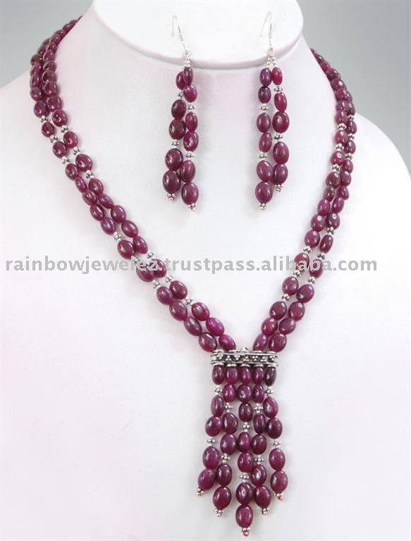 and jewellery sets beads stylish ruby designs pin fancy