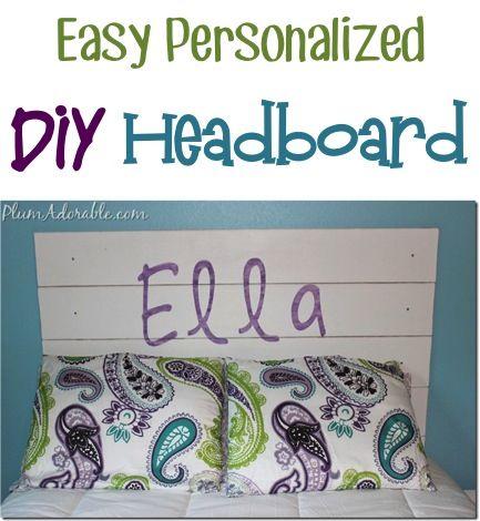 Easy Personalized DIY Headboard