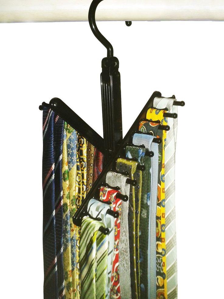 Amazon.com: Tie Rack Necktie Cross Hanger Hangers Closet Organizer Tie  Organizer Tie Rack