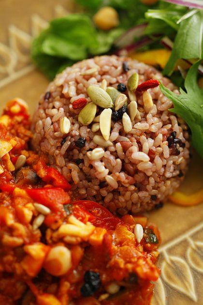 トマトひき肉めし:雑穀
