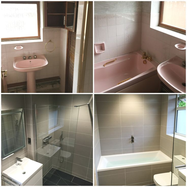 One of our latest bathroom installs: Before and After! Nice work team!
