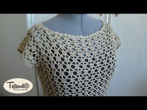 Blusa o jersey de verano tejida a ganchillo (Parte 1 de 2)
