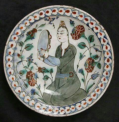 16 th Turks ottoman ceramic tiles (cini)