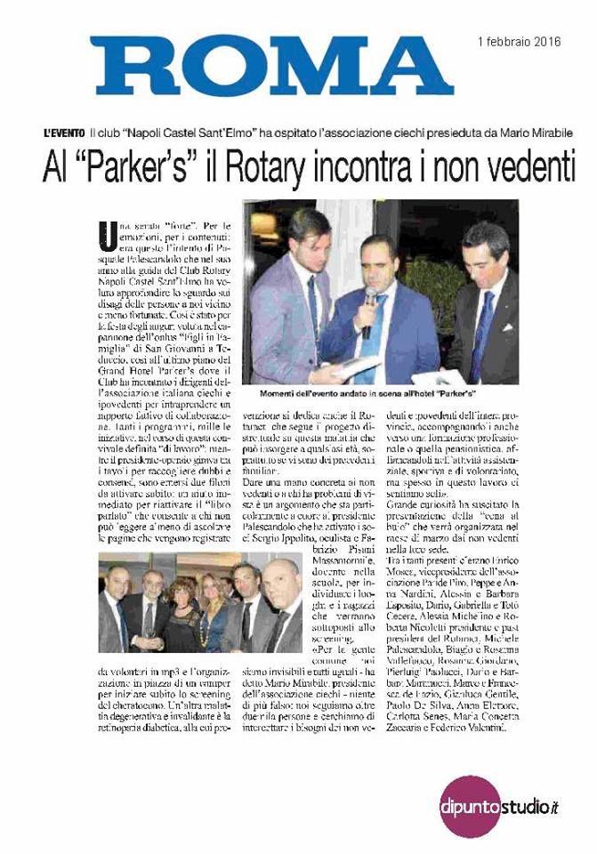 Sul ROMA si parla della serata con il Rotary che si è svolta presso il nostro hotel