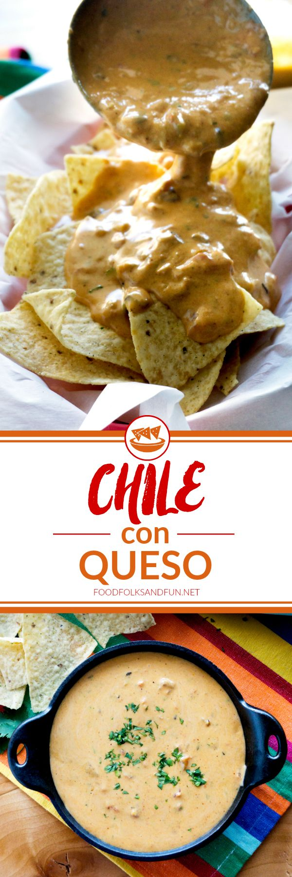 This is the only Chile con Queso recipe you'll need for parties, game day, snacks, and more! It's made from scratch, and without processed cheese like Velveeta!
