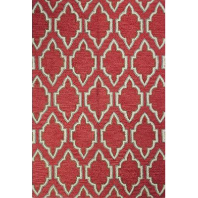 Beachcrest Home Villanova Hand Tufted Coral Area Rug Rug Size: 3u00276