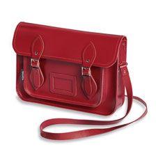 Zatchels 'Satchel' Bag in Rot     bestellen - THE BRITISH SHOP - englische Damenkleidung online günstig kaufen