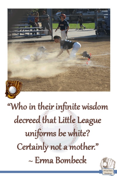 As a Mom who spent a portion of the day getting stains outs of white basetball pants, would like to know the same thing....who thought white was a great idea?