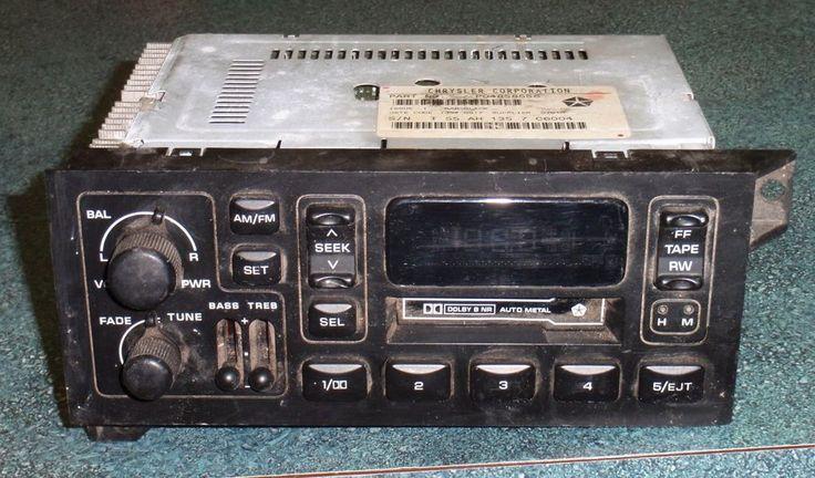 1984-03 OEM CHRYSLER AM FM Radio Tape Player DODGE PLYMOUTH JEEP P04858556 #MOPARCHRYSLERDODGEJEEPPLYMOUTH