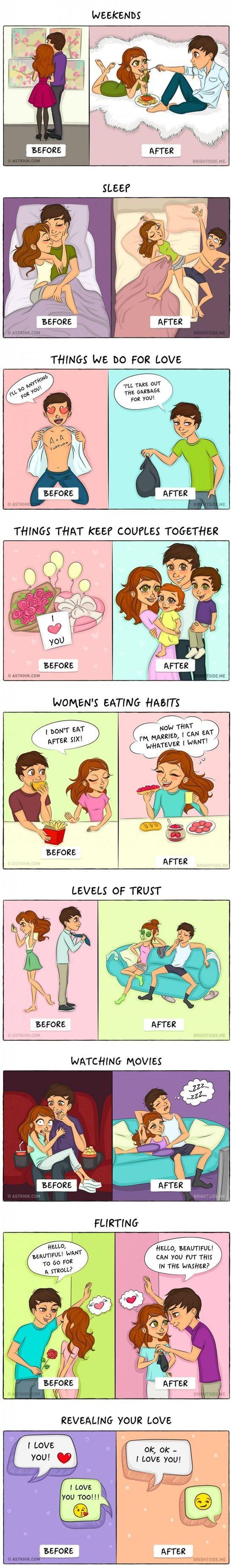 Dating Vs Marriage #lol #haha #funny