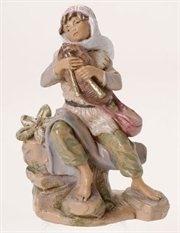 Bagpiper Josiah Nativity Village Figurine