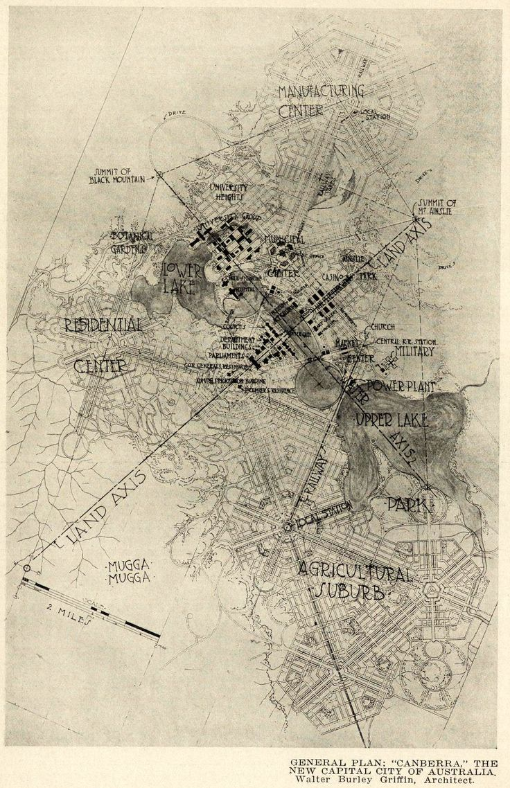 The proposed general plan of Canberra - THE NEW CAPITAL CITY OF AUSTRALIA…