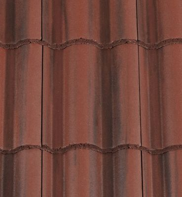 Low Pitch Roof Tiles. Redland Regent Roof Tiles for use down to 12.5°. Rustic Red colour