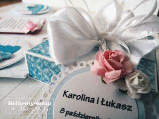 Ślubny exploding box Więcej zdjęć na blogu. Zapraszam.