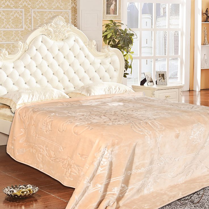 Эксклюзивный Одеяло Тиснением Алмаз вышивка Кровать Гостиная Одеяло на Кровати King Size 3.0 кг Бросьте Одеяла для кровати