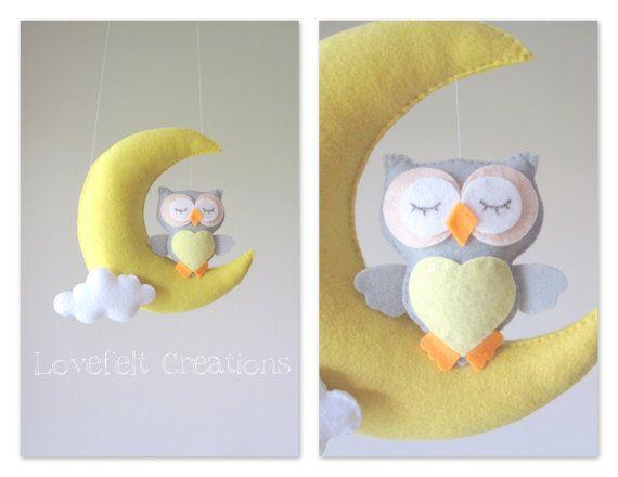 Baby mobile - Owl mobile - Crib Mobile Owl - Baby Mobile Stars - Owl decor